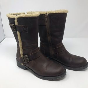 Clarks Woman's Winter Boots Leather Brown Size 7